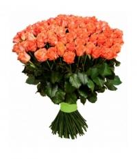 101 оранжевая роза 80 см