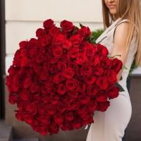 101 элитная красная роза
