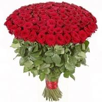 101 красная роза 80 см!!!