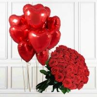 Розы + шары