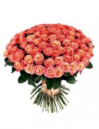 101 персиковая роза 70 см