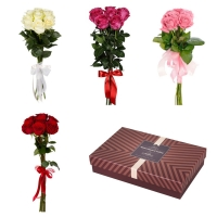 7 роз с конфетами