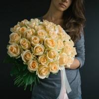 51 кремовая роза 70 см