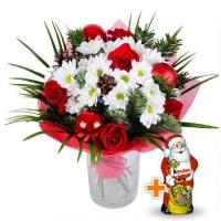 Зимний букет + Дед мороз